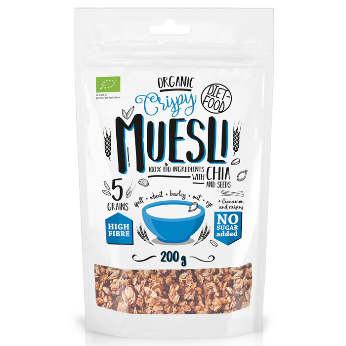 Diet Food müslisegu chia seemnetega (200 g)