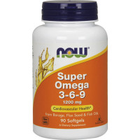 NOW Super Omega 3-6-9 1200 mg õlikapslid (90 tk)