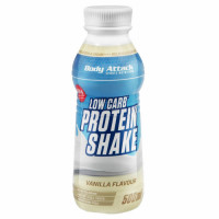 Body Attack Low Carb Protein Shake, Vanilje (500 ml). Parim enne 26.03.2019