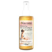 Nacomi Tan Accelerating Oil With Gold Flakes päevitusõli (150 ml)