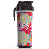 SmartShake Double Wall vahetatava disainiga šeiker, Flower power/Tropical (750 ml)